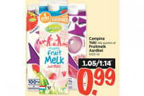 campina yoki of fruitmelk aardbei