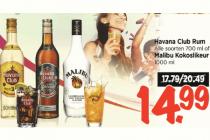 havana club rum of malibu kokoslikeur