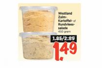 westland zalm  karoffel  of rundvleessalade