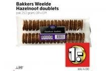 bakkers weelde hazelnoot doublets