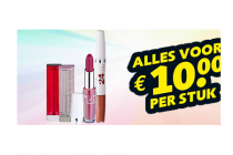maybelline lip make up voor 10 euro