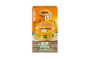 mora snacks kipburger 4 stuks