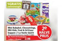 mini babybel cheesstrings eru kids fred  ed kaas koppen of la vache quirit
