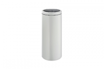 brabantia touch bin flat top 30 liter wit platinum of steel