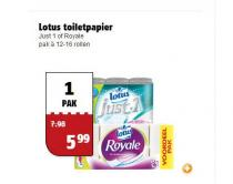 lotus toiletpapier just 1 of royale