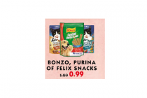 bonzo purina of felix snacks