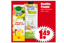 healthy people pak drinken