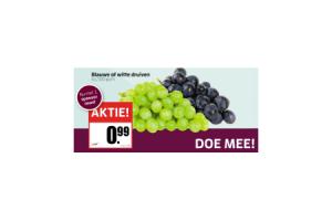 blauwe of witte druiven