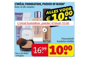 loreal foundation poeder of blush