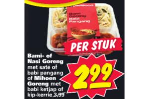 bami  of nasi goreng