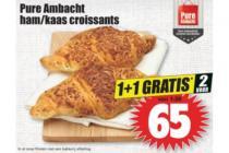 pure ambacht hamkaas croissants