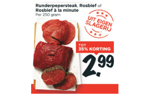 runderpepersteak rosbief of rosbief a la minute