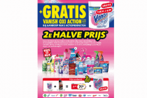 diverse producten 2e halve prijs plus gratis vanish oxi action