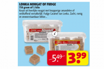 lonka nougat of fudge