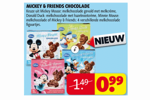 mickey  friends chocolade