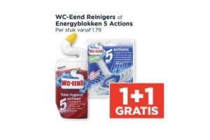 wc  eend reinigers of energyblokken 5 actions