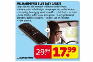 mr. handsfree blue easy carkit