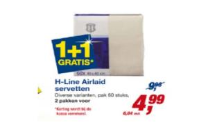 h line airlaid servetten