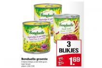bonduelle groente 3 kleine blikjes a 130   200 gram naar keuze