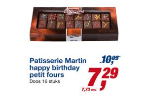 patisserie martin happy birthday petit fours