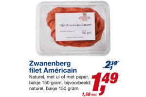 zwanenberg filet americain