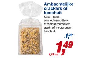 ambachtelijke crackers of beschuit