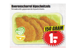 boerenscharrel kipschnitzels