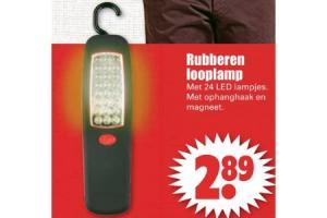 rubberen looplamp