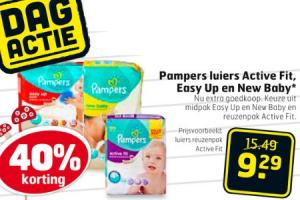 pampers luiers active fit easy up en new baby