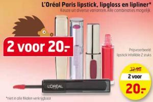 loreal paris lipstick lipgloss en lipliner