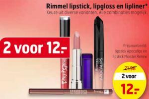 rimmel lipstick lipgloss en lipliner