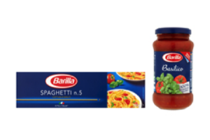 barilla pasta of pastasaus