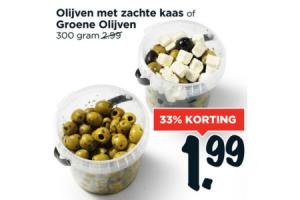 olijven met zachte kaas of groene olijven