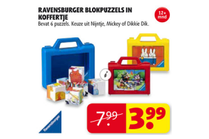 ravensburger blokpuzzels in koffertje