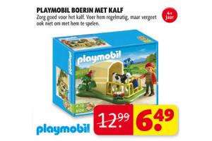 playmobil boerin met kalf