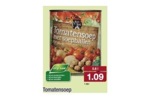 tomatensoep met soepballen