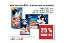 alle soorten felix kattenvoer en snacks