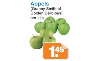 appels granny smith of golden delicious