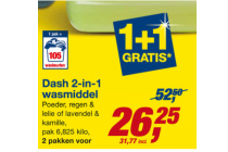 dash 2 in 1 wasmiddel