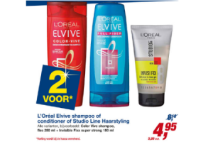 loreal elvive shampoo of conditioner of studio line haarstyling