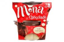 mona pudding chocolade duo portie.