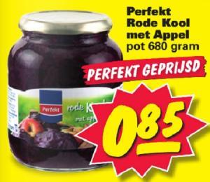 perfect rode kool met appel 680 gram