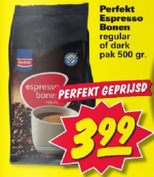 perfekt espresso bonen pak 500 gram