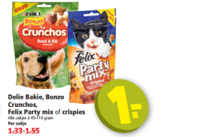 delie bakie bonzo  crunchos felix party mix of crispies