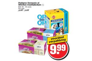 pedigree dentastix of whiskas maaltijdzakjes
