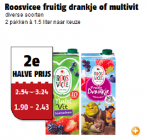 roosvicee fruitig drankje of multivit