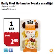 daily chef hollandse 3 vaks maaltijd