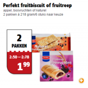 perfekt fruitbiscuit of fruitreep