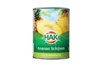 hak ananasschijven op sap 230 gram
