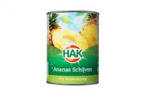 hak ananasschijven op sap 425 gram